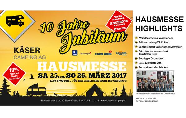 25.-26.03.2017 Hausmesse Käser Camping