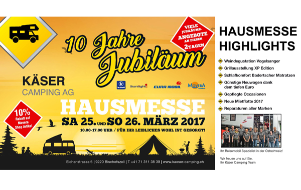 25.-26.03.2017 House Exhibiton Käser Camping