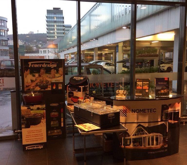 Ausstellung von unseren Feuerdesign Grills bei unserem Partner Nometec