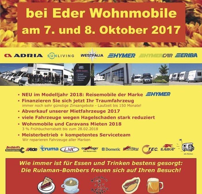 7.-8.10.2017 WOMO-EDER OKTOBERFEST 2017