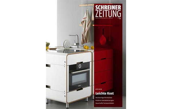Unsere Miniküchen in der SchreinerZeitung Nr. 11 vom 14. März 2019