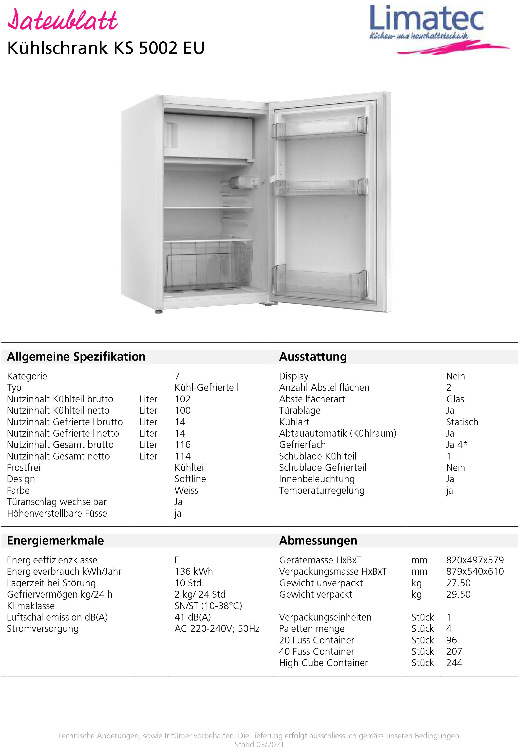 refrigerator KS5002EU