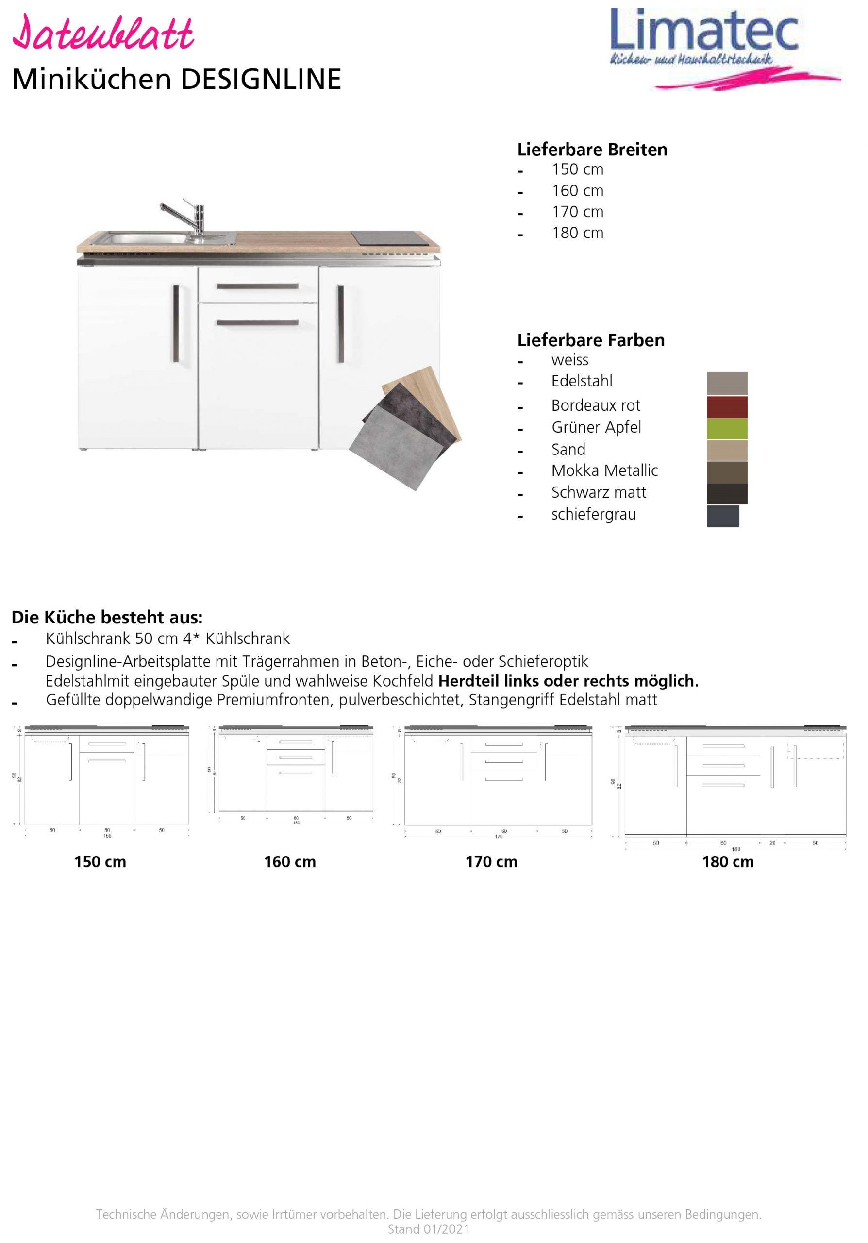 Miniküchen DESIGNLINE