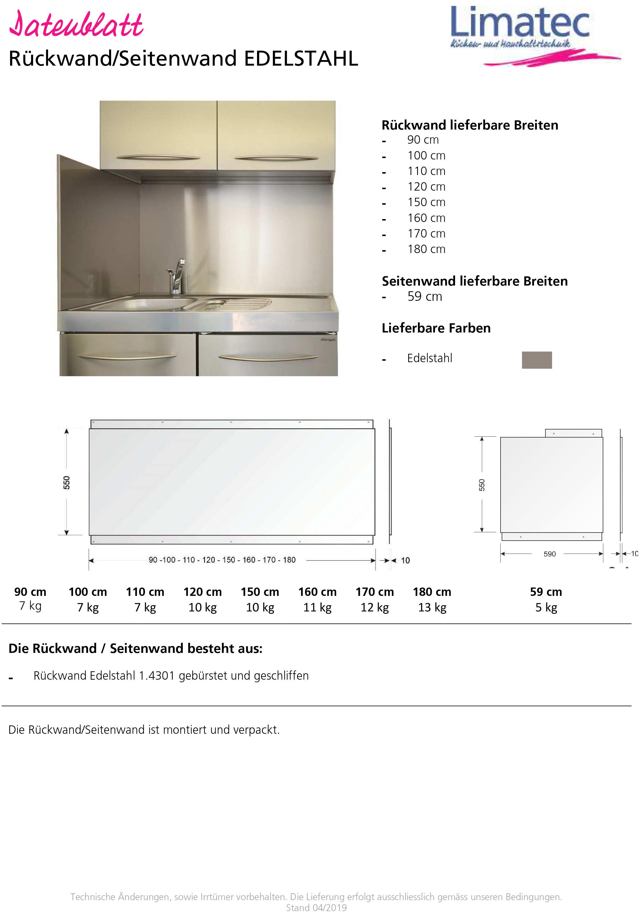 Rear panel/side panel
