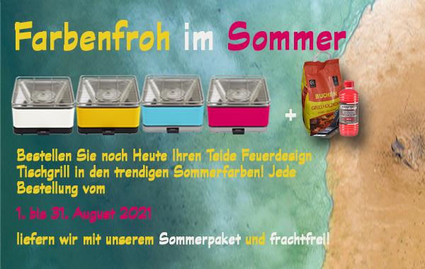Shopaktion Tischgrill Feuerdesign August 2021